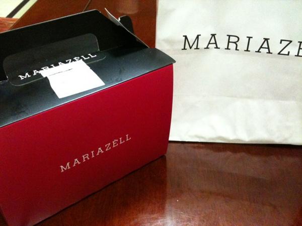 MARIAZELLのケーキ(箱) http://twitpic.com/25rsvc