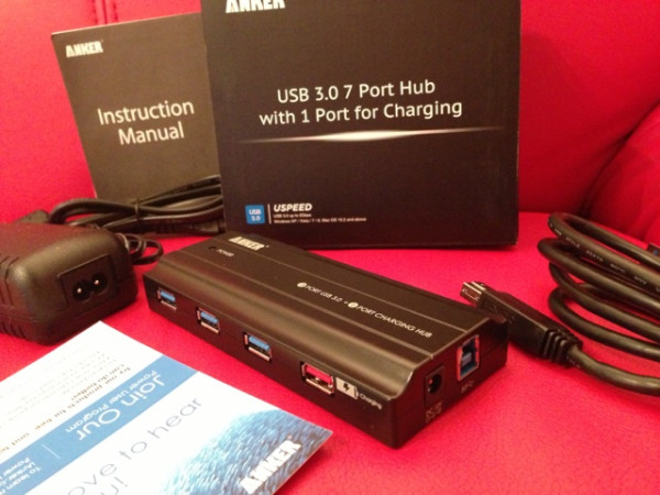 Anker Uspeed USB 3.0 7 Port Hub with Port for Charging