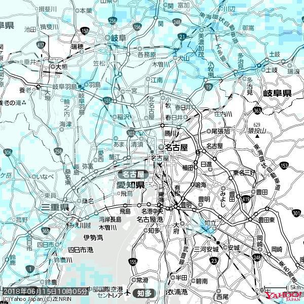 名古屋の天気(雨) 降水強度: 0.55(mm/h)  2018年06月15日 10時05分の雨雲 https://t.co/cYrRU9sV0H #雨雲bot #bot https://t.co/OVIPOZSKZF