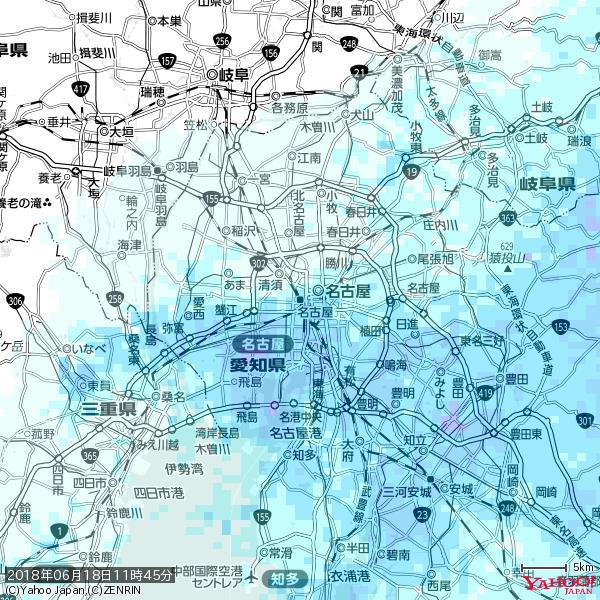 名古屋の天気(雨) 降水強度: 3.63(mm/h)  2018年06月18日 11時45分の雨雲 https://t.co/cYrRU9sV0H #雨雲bot #bot https://t.co/Epz5lUYN21
