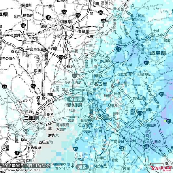 名古屋の天気(雨) 降水強度: 1.75(mm/h)  2018年06月18日 11時50分の雨雲 https://t.co/cYrRU9sV0H #雨雲bot #bot https://t.co/m8EFL0i0aU
