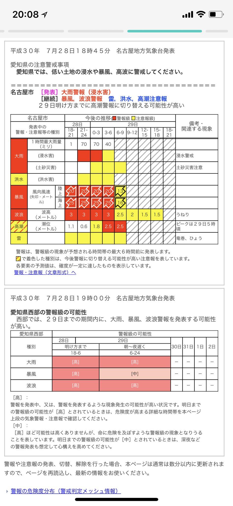 気象庁 | 気象警報・注意報 | 名古屋市 https://t.co/vTLlimrEeY https://t.co/V1ETRjcNAX