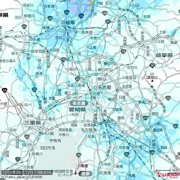 名古屋の天気(雨) 降水強度: 1.05(mm/h)  2018年09月12日 10時40分の雨雲 https://t.co/cYrRU9sV0H #雨雲bot #bot https://t.co/Cy3MC0mqng