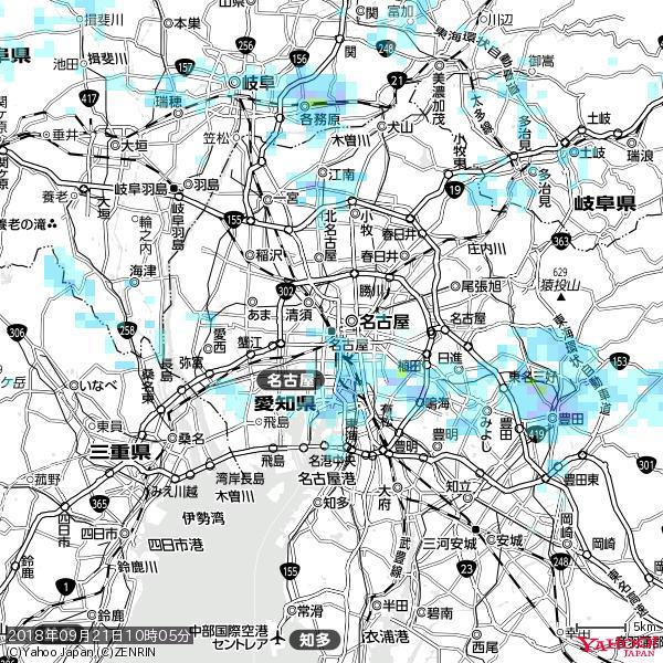 名古屋の天気(雨) 降水強度: 1.55(mm/h)  2018年09月21日 10時05分の雨雲 https://t.co/cYrRU9sV0H #雨雲bot #bot https://t.co/qiZamtgQmW