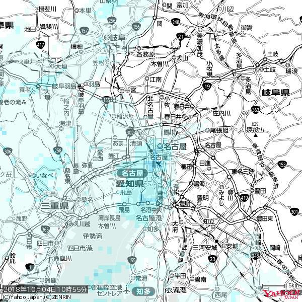 名古屋の天気(雨) 降水強度: 1.85(mm/h)  2018年10月04日 10時55分の雨雲 https://t.co/cYrRU9sV0H #雨雲bot #bot https://t.co/DfmZwKI5x8