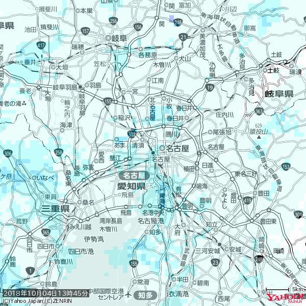 名古屋の天気(雨) 降水強度: 1.55(mm/h)  2018年10月04日 13時45分の雨雲 https://t.co/cYrRU9sV0H #雨雲bot #bot https://t.co/Gsczzp4QLV