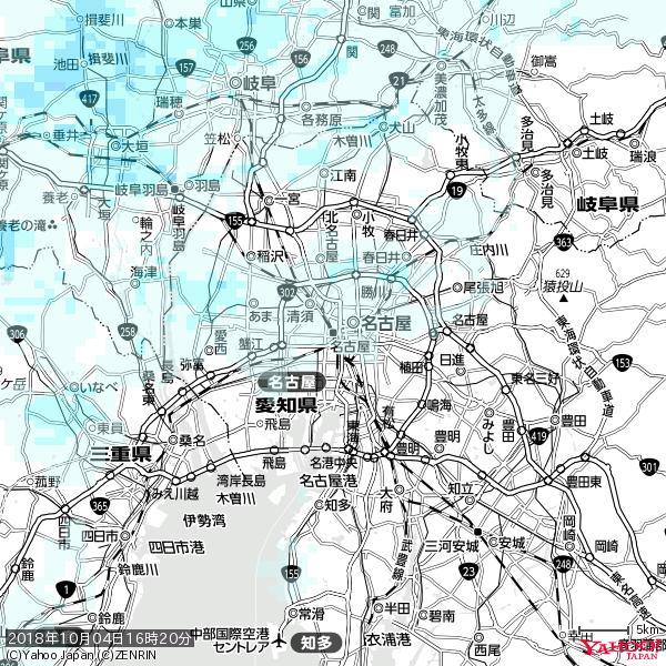 名古屋の天気(雨) 降水強度: 0.45(mm/h)  2018年10月04日 16時20分の雨雲 https://t.co/cYrRU9sV0H #雨雲bot #bot https://t.co/7UfV8LMUtv