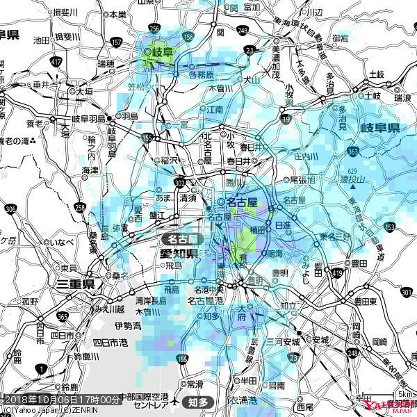 名古屋の天気(雨) 降水強度: 3.13(mm/h)  2018年10月06日 17時00分の雨雲 https://t.co/cYrRU9sV0H #雨雲bot #bot https://t.co/MqmoqThKy2
