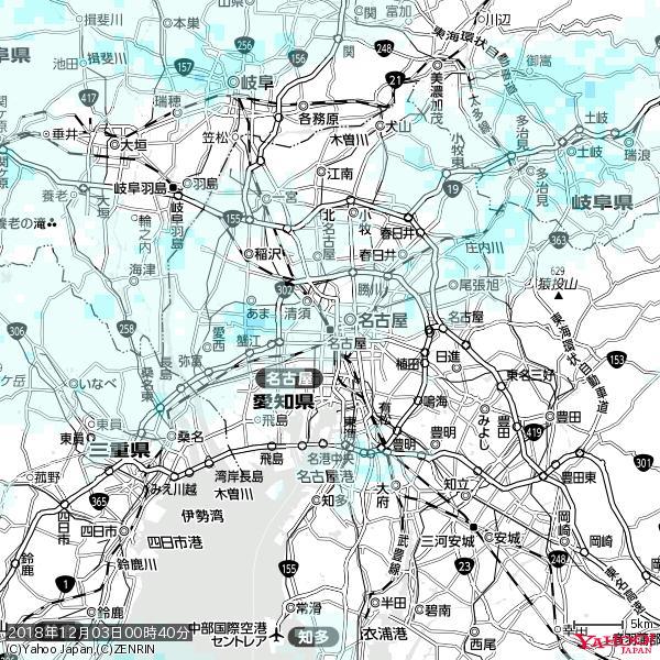 名古屋の天気(雨) 降水強度: 0.75(mm/h)  2018年12月03日 00時40分の雨雲 https://t.co/cYrRU9sV0H #雨雲bot #bot https://t.co/XCi3pAsDCt