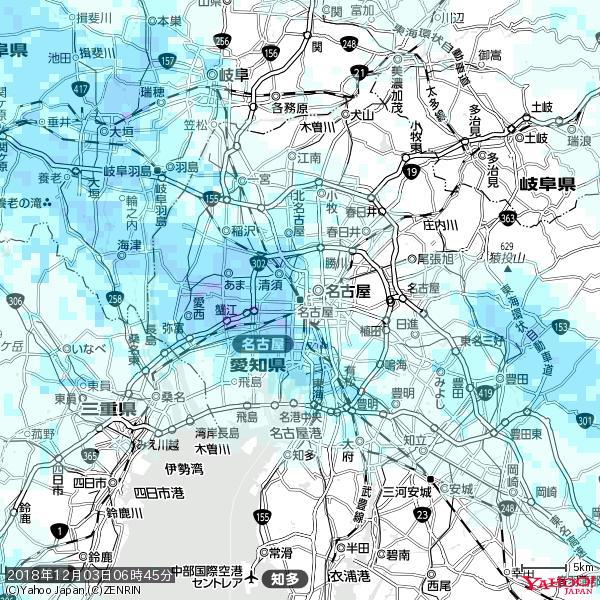 名古屋の天気(雨) 降水強度: 1.15(mm/h)  2018年12月03日 06時45分の雨雲 https://t.co/cYrRU9sV0H #雨雲bot #bot https://t.co/b08BxBPOGW