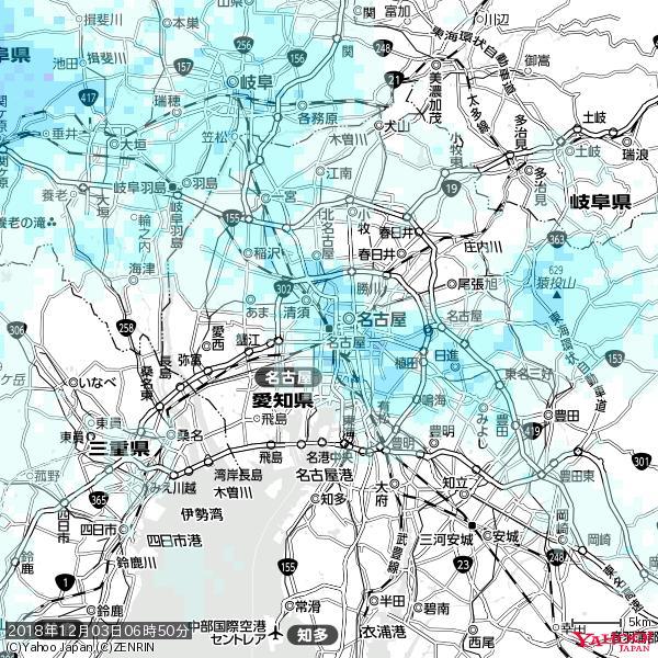 名古屋の天気(雨) 降水強度: 1.75(mm/h)  2018年12月03日 06時50分の雨雲 https://t.co/cYrRU9sV0H #雨雲bot #bot https://t.co/ZisR7JENPA