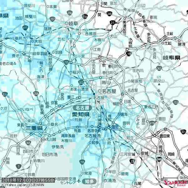 名古屋の天気(雨) 降水強度: 2.38(mm/h)  2018年12月03日 07時55分の雨雲 https://t.co/cYrRU9sV0H #雨雲bot #bot https://t.co/Jst98x9yDl