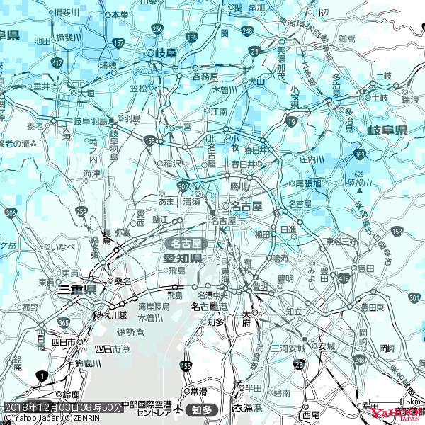名古屋の天気(雨) 降水強度: 0.95(mm/h)  2018年12月03日 08時50分の雨雲 https://t.co/cYrRU9sV0H #雨雲bot #bot https://t.co/SabZcgbOc0