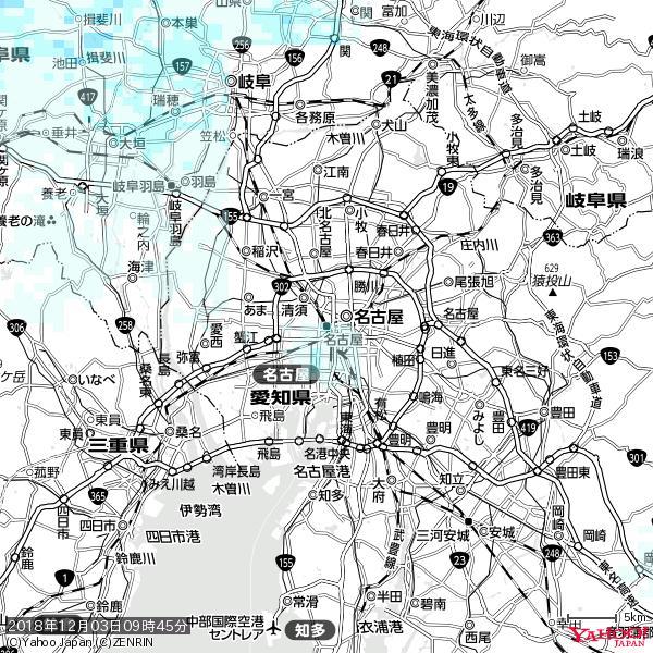 名古屋の天気(雨) 降水強度: 1.05(mm/h)  2018年12月03日 09時45分の雨雲 https://t.co/cYrRU9sV0H #雨雲bot #bot https://t.co/PlkXAv7L5u