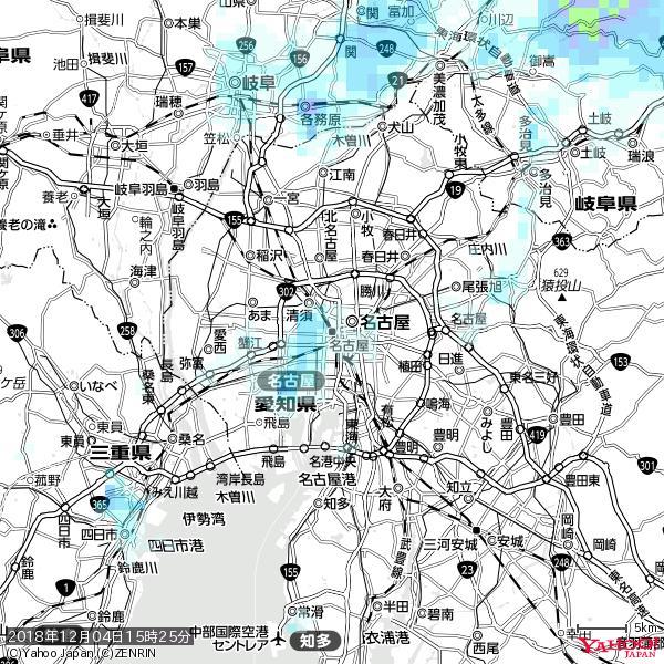 名古屋の天気(雨) 降水強度: 0.75(mm/h)  2018年12月04日 15時25分の雨雲 https://t.co/cYrRU9sV0H #雨雲bot #bot https://t.co/eJewfJzCAl