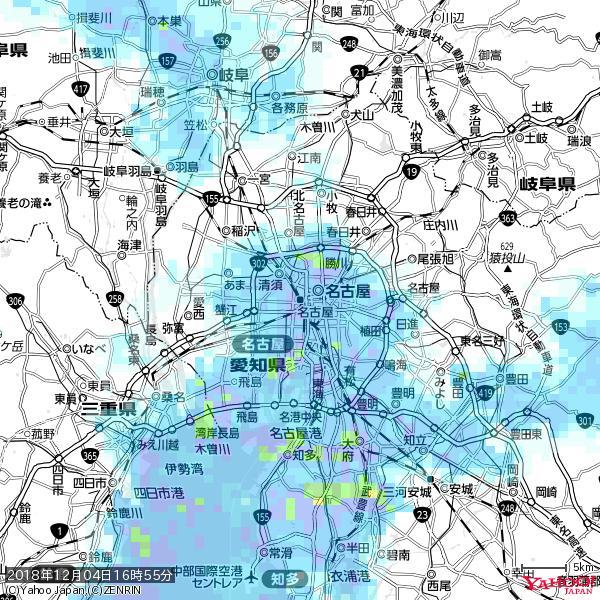 名古屋の天気(雨) 降水強度: 6.75(mm/h)  2018年12月04日 16時55分の雨雲 https://t.co/cYrRU9sV0H #雨雲bot #bot https://t.co/2Jgf25t5JY