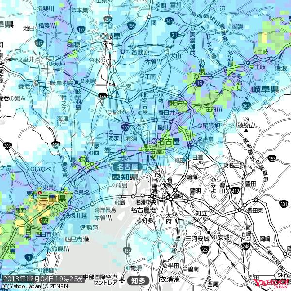 名古屋の天気(雨): やや強い雨 降水強度: 13.50(mm/h)  2018年12月04日 19時25分の雨雲 https://t.co/cYrRU9sV0H #雨雲bot #bot https://t.co/9h9EkaCdPA
