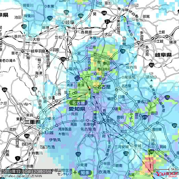 名古屋の天気(雨): 激しい雨 降水強度: 30.50(mm/h)  2018年12月04日 20時05分の雨雲 https://t.co/cYrRU9sV0H #豪雨bot #雨雲bot #bot https://t.co/neT2GTQ9lP
