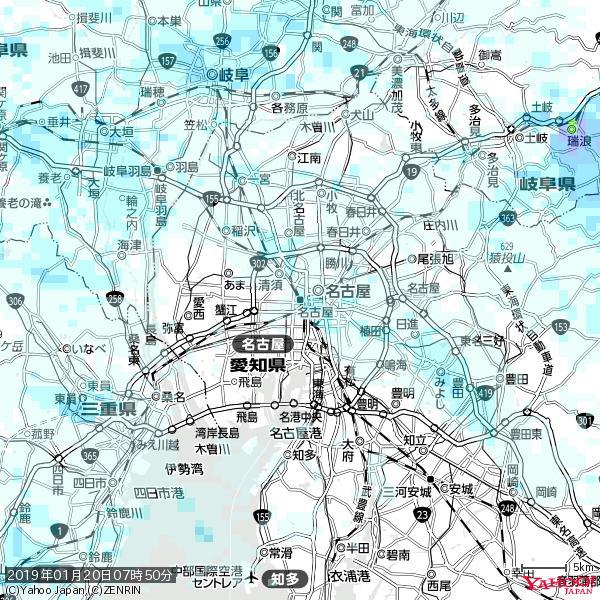 名古屋の天気(雨) 降水強度: 1.35(mm/h)  2019年01月20日 07時50分の雨雲 https://t.co/cYrRU9sV0H #雨雲bot #bot https://t.co/g1KWq60vBq