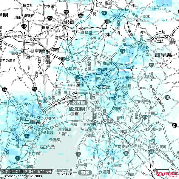名古屋の天気(雨) 降水強度: 1.95(mm/h)  2019年01月20日 10時15分の雨雲 https://t.co/cYrRU9sV0H #雨雲bot #bot https://t.co/JSbLHIKD9u