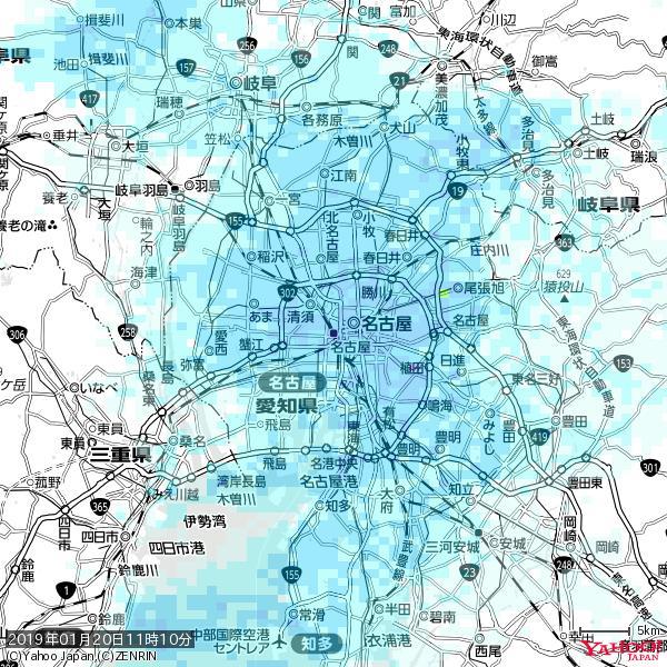 名古屋の天気(雨) 降水強度: 9.75(mm/h)  2019年01月20日 11時10分の雨雲 https://t.co/cYrRU9sV0H #雨雲bot #bot https://t.co/NUAfYiVHJv