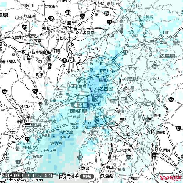 名古屋の天気(雨) 降水強度: 4.13(mm/h)  2019年01月20日 13時35分の雨雲 https://t.co/cYrRU9sV0H #雨雲bot #bot https://t.co/zwiVcnyR2w