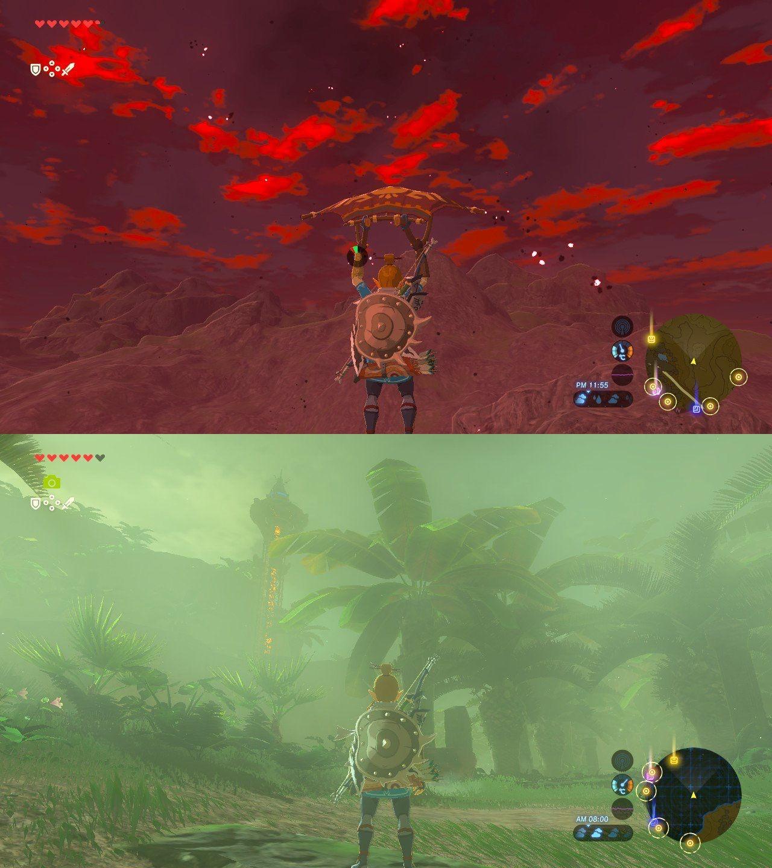 赤き月の刻が過ぎたら熱帯雨林地方に来てた。 #ゼルダの伝説 #BreathoftheWild #NintendoSwitch https://t.co/XfwZWxrccT