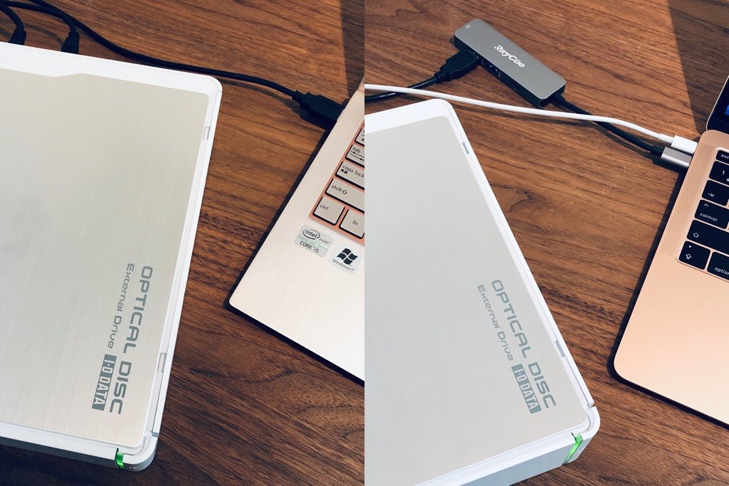 I-O DATA DVR-UN20E DVDスーパーマルチドライブを MacBook Air 2018 + macOS 10.14 Mojave と ASUS ZENBOOK UX21E-KXROSE + Windows 10 に USB 接続してみるとドライブ自体は認識してくれるけど CD を読み込ませてもうんともすんとも。 https://t.co/bjZbh0SFuJ