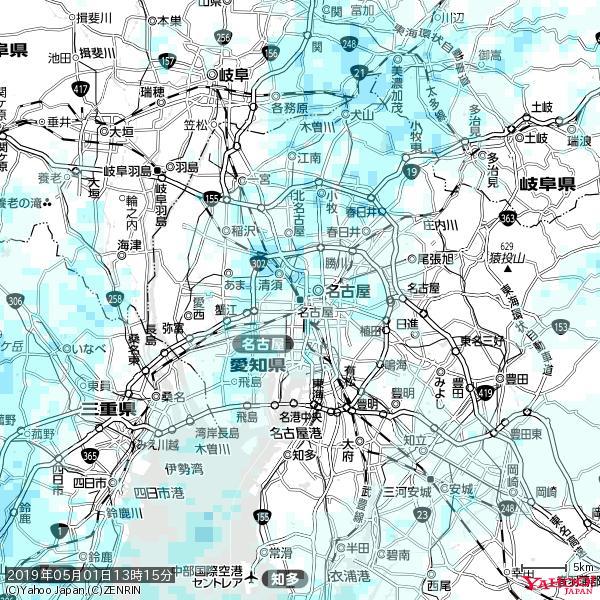 名古屋の天気(雨) 降水強度: 1.75(mm/h)  2019年05月01日 13時15分の雨雲 https://t.co/cYrRU9bk99 #雨雲bot #bot https://t.co/aIRRXcAky5