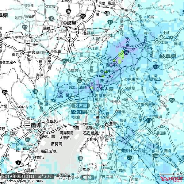 名古屋の天気(雨) 降水強度: 4.63(mm/h)  2019年05月01日 15時30分の雨雲 https://t.co/cYrRU9bk99 #雨雲bot #bot https://t.co/879c9JXpOR