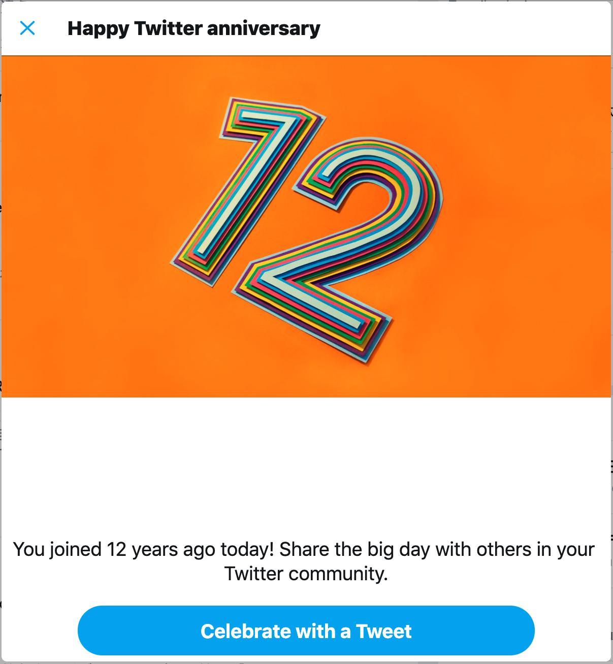今日で Twitter をはじめて12年(∩´∀`)∩ 12周年だー https://t.co/noAjV628nS