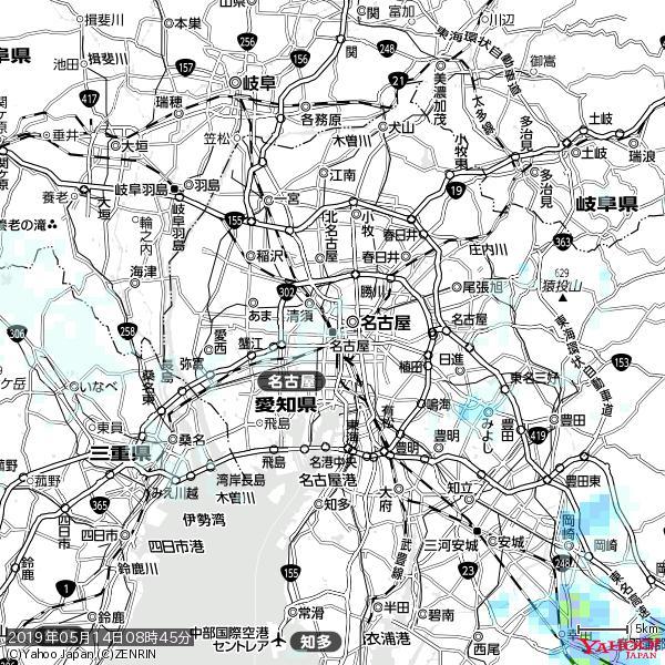 名古屋の天気(雨) 降水強度: 0.45(mm/h)  2019年05月14日 08時45分の雨雲 https://t.co/cYrRU9sV0H #雨雲bot #bot https://t.co/qX4KzrWS8v