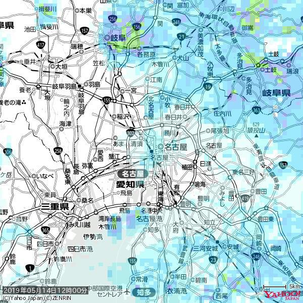 名古屋の天気(雨) 降水強度: 2.38(mm/h)  2019年05月14日 12時00分の雨雲 https://t.co/cYrRU9sV0H #雨雲bot #bot https://t.co/mOv5WHcrtV