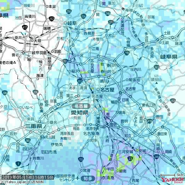 名古屋の天気(雨) 降水強度: 3.63(mm/h)  2019年05月14日 16時15分の雨雲 https://t.co/cYrRU9sV0H #雨雲bot #bot https://t.co/KfmSewdfUT