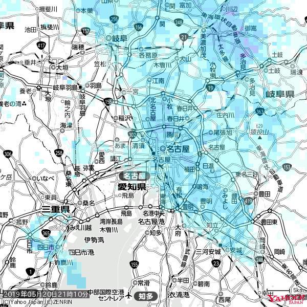 名古屋の天気(雨) 降水強度: 3.88(mm/h)  2019年05月20日 21時10分の雨雲 https://t.co/cYrRU9sV0H #雨雲bot #bot https://t.co/ud7rqSCT7U