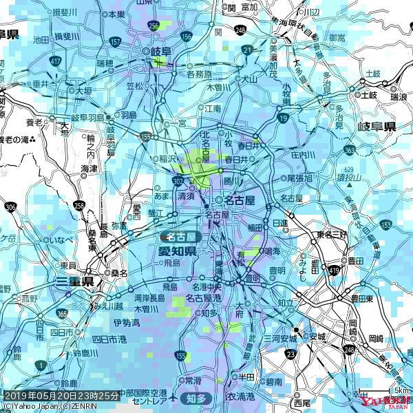 名古屋の天気(雨) 降水強度: 7.25(mm/h)  2019年05月20日 23時25分の雨雲 https://t.co/cYrRU9sV0H #雨雲bot #bot https://t.co/rnxmqGe7Bu