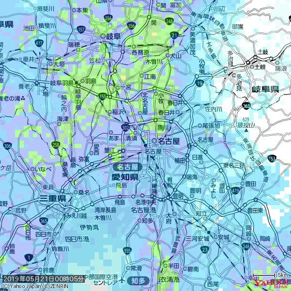 名古屋の天気(雨): やや強い雨 降水強度: 10.50(mm/h)  2019年05月21日 00時05分の雨雲 https://t.co/cYrRU9sV0H #雨雲bot #bot https://t.co/p2jHr4r70x