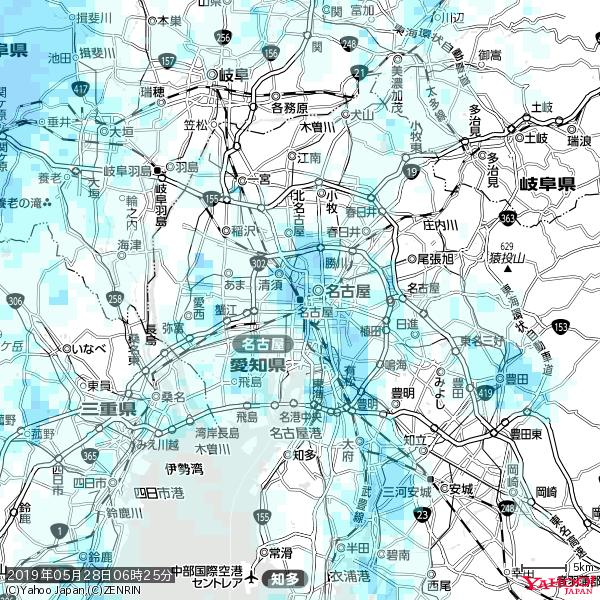 名古屋の天気(雨) 降水強度: 3.13(mm/h)  2019年05月28日 06時25分の雨雲 https://t.co/cYrRU9sV0H #雨雲bot #bot https://t.co/YmhpR8pFUh