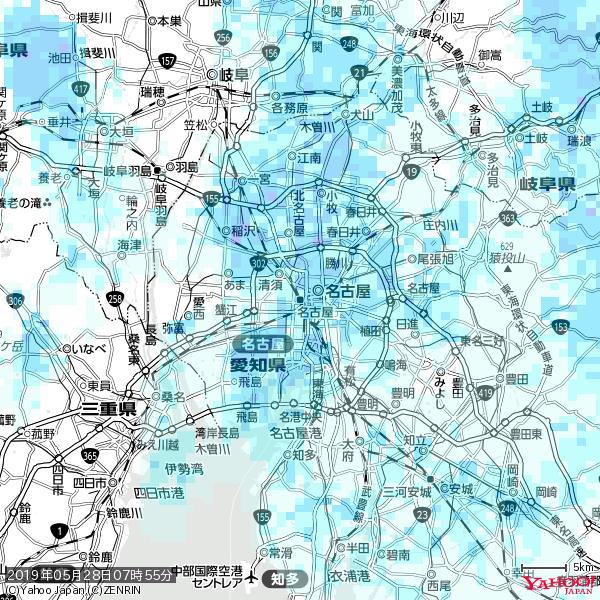 名古屋の天気(雨) 降水強度: 2.63(mm/h)  2019年05月28日 07時55分の雨雲 https://t.co/cYrRU9sV0H #雨雲bot #bot https://t.co/NGNWwEYKzd