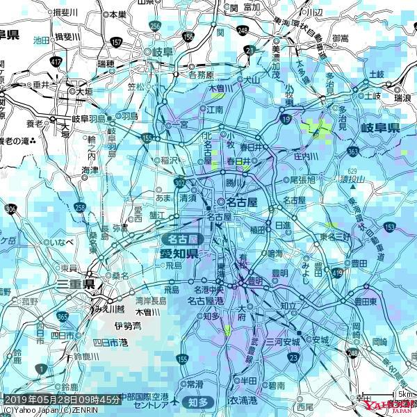 名古屋の天気(雨) 降水強度: 7.25(mm/h)  2019年05月28日 09時45分の雨雲 https://t.co/cYrRU9sV0H #雨雲bot #bot https://t.co/Qy58h9UvYS