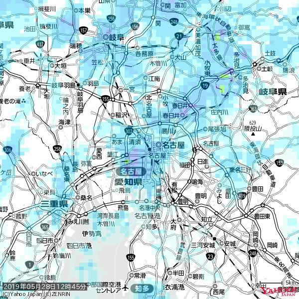 名古屋の天気(雨) 降水強度: 7.25(mm/h)  2019年05月28日 12時45分の雨雲 https://t.co/cYrRU9sV0H #雨雲bot #bot https://t.co/tv1sxj0UHO