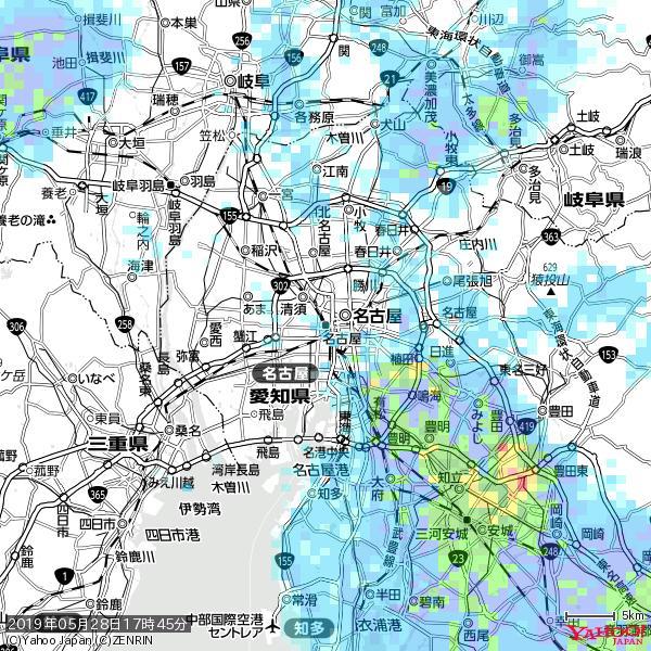 名古屋の天気(雨) 降水強度: 1.65(mm/h)  2019年05月28日 17時45分の雨雲 https://t.co/cYrRU9sV0H #雨雲bot #bot https://t.co/M0cktAl7xH