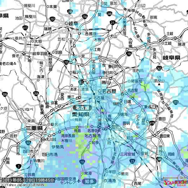 名古屋の天気(雨) 降水強度: 2.13(mm/h)  2019年05月28日 19時45分の雨雲 https://t.co/cYrRU9sV0H #雨雲bot #bot https://t.co/s4rbPFBeCU