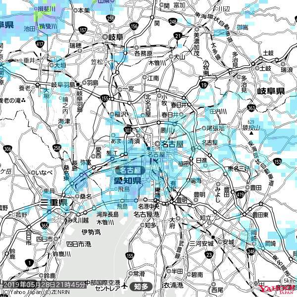 名古屋の天気(雨) 降水強度: 3.38(mm/h)  2019年05月28日 21時45分の雨雲 https://t.co/cYrRU9sV0H #雨雲bot #bot https://t.co/jDzXcZ59Jn