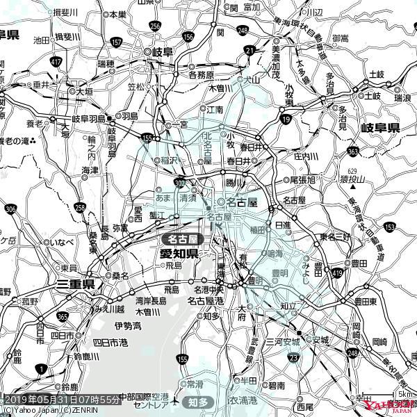 名古屋の天気(雨) 降水強度: 0.65(mm/h)  2019年05月31日 07時55分の雨雲 https://t.co/cYrRU9sV0H #雨雲bot #bot https://t.co/3lOhkcav5V