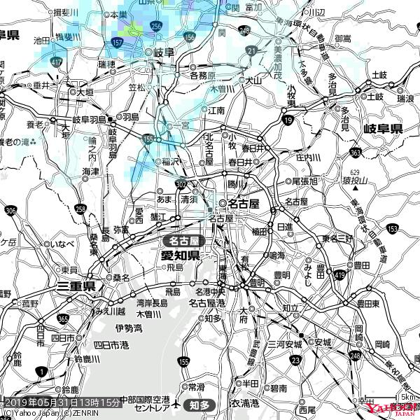 名古屋の天気(雨) 降水強度: 0.55(mm/h)  2019年05月31日 13時15分の雨雲 https://t.co/cYrRU9sV0H #雨雲bot #bot https://t.co/PTjgyOL2Q9