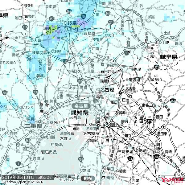 名古屋の天気(雨) 降水強度: 0.75(mm/h)  2019年05月31日 15時30分の雨雲 https://t.co/cYrRU9sV0H #雨雲bot #bot https://t.co/fy5MEGiVw1