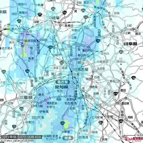 名古屋の天気(雨) 降水強度: 4.38(mm/h)  2019年06月07日 06時45分の雨雲 https://t.co/cYrRU9sV0H #雨雲bot #bot https://t.co/tUIAL3t3re