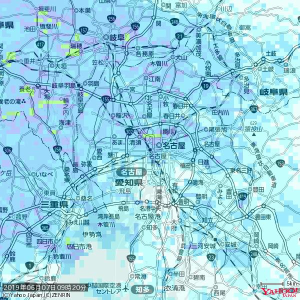 名古屋の天気(雨) 降水強度: 6.25(mm/h)  2019年06月07日 09時20分の雨雲 https://t.co/cYrRU9sV0H #雨雲bot #bot https://t.co/fws8zr6Ifu