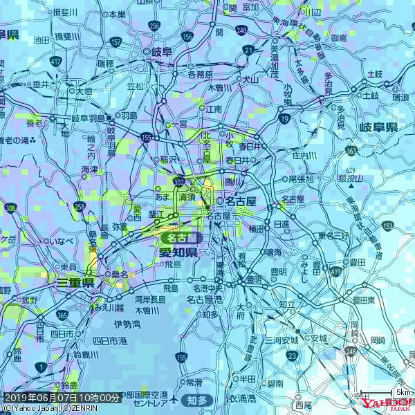 名古屋の天気(雨): 強い雨 降水強度: 22.50(mm/h)  2019年06月07日 10時00分の雨雲 https://t.co/cYrRU9sV0H #豪雨bot #雨雲bot #bot https://t.co/y8S9Yvwb5x